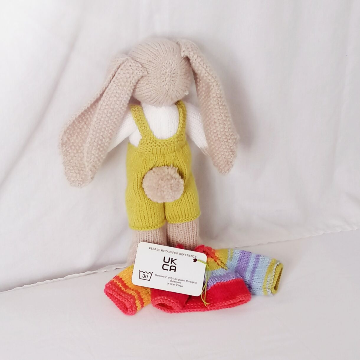 handknitted-rainbow-bunny-unique-gift-green-back-no-jacket