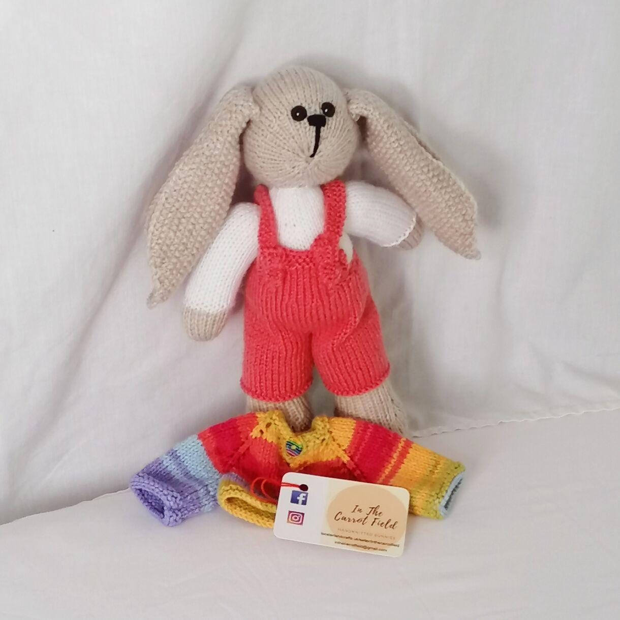 handknitted-rainbow-bunny-unique-gift-orange-front-no-jacket