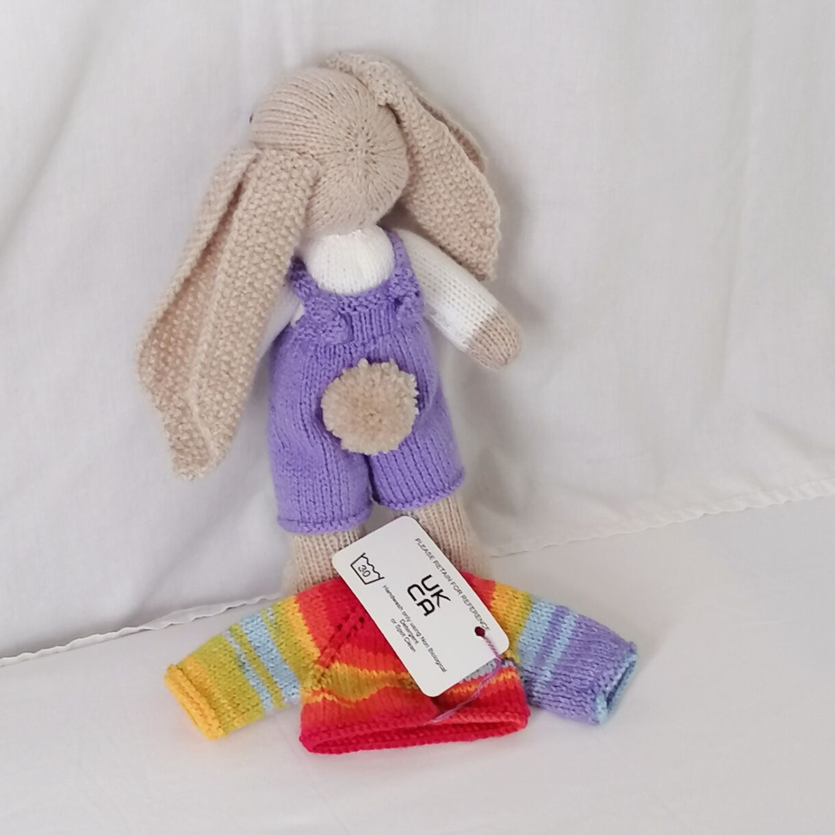handknitted-rainbow-bunny-unique-gift-purple-back-no-jacket