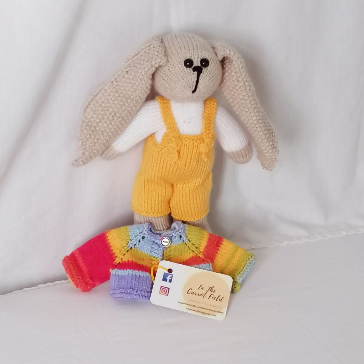 handknitted-rainbow-bunny-unique-gift-yellow-front-no-jacket